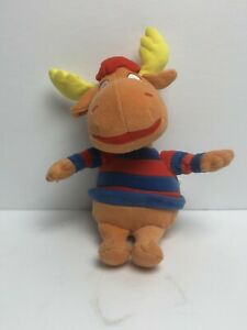 "Ty Beanie Baby Babies Tyrone Moose The Backyardigans 9"" Plush 2004 Stuffed"