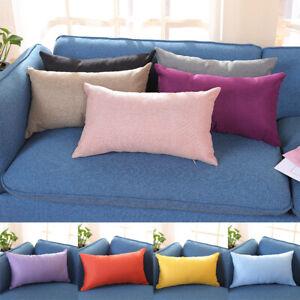 30x50cm-rectangle-coton-lin-Housses-De-Coussin-Throw-taies-d-039-oreiller-canape-Home-Decor