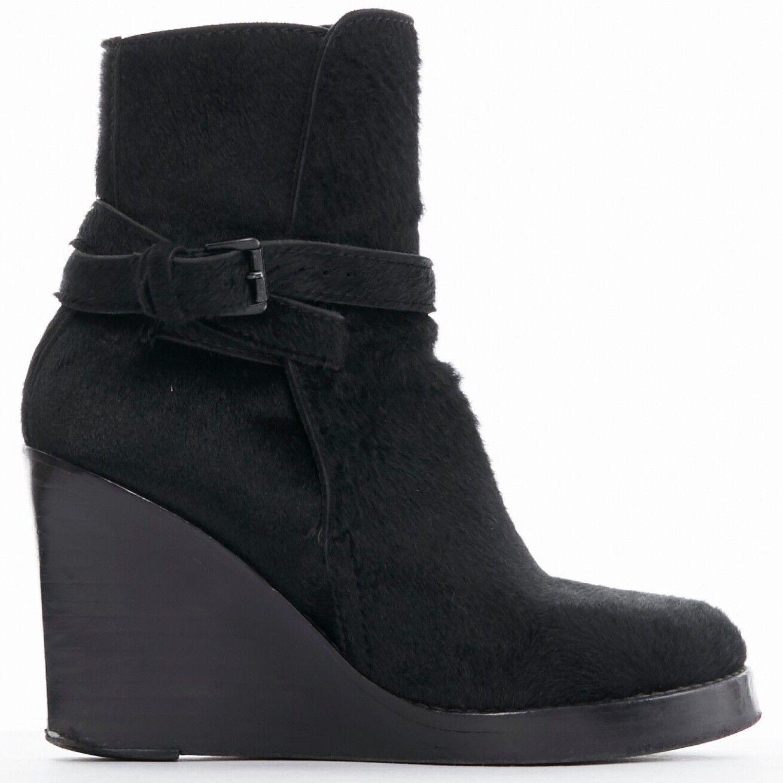 Ann Demeulemeester con cinturón de Piel de Potro Plataforma Plataforma Plataforma botas Hasta el Tobillo Zapatos De EU36 US6 UK3  de moda