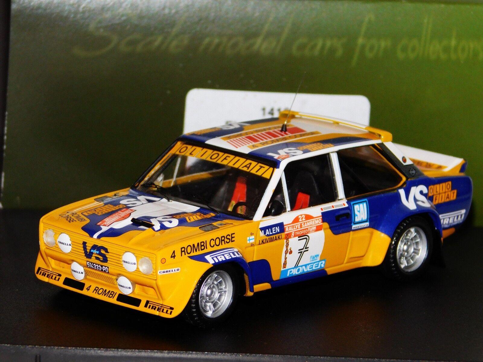 Fiat 131 Abarth 4 Antivandalismo Corse M. Alen Sanremo 1980 Trofeu 1416 1 43