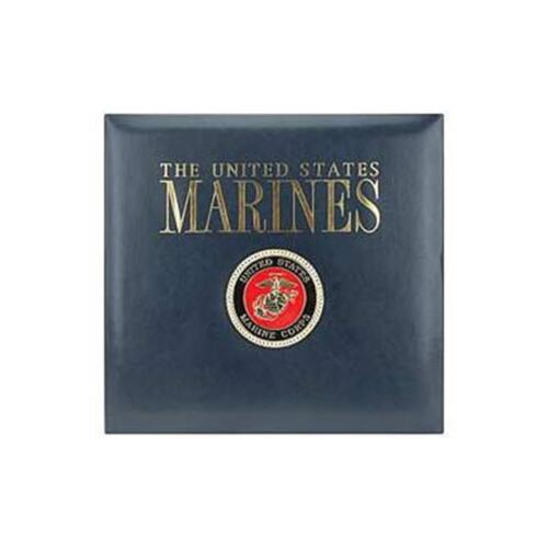 K and Company 12 x 12 scrapbook album post bound United States Marines Leather