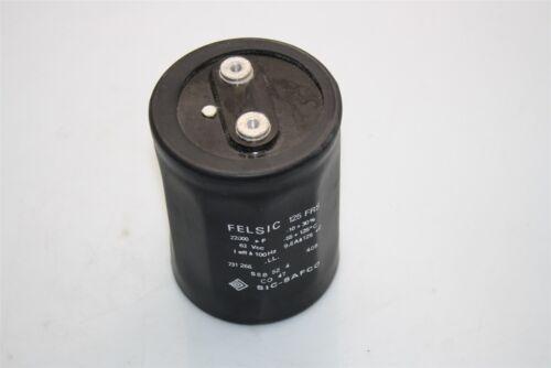 Felsic 125 FRS Aluminum Electrolytic Screw Capacitor Sic-Safco CO 47 22000µF 63V