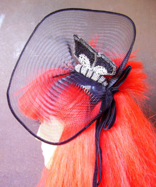 1995 / Loris Azzaro / Coiffe Peigne Papillon En Mini Perles