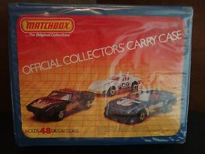 1983-MATCHBOX-OFFICIAL-COLLECTOR-039-S-CARRY-CASE-amp-MATCHBOX-CARS