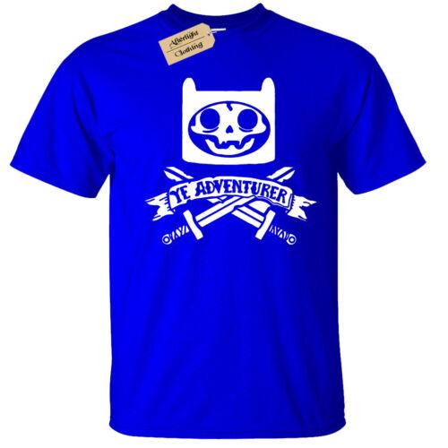Kids Boys Girls YE ADVENTURER T-Shirt pirate time skeleton adventure skull bones