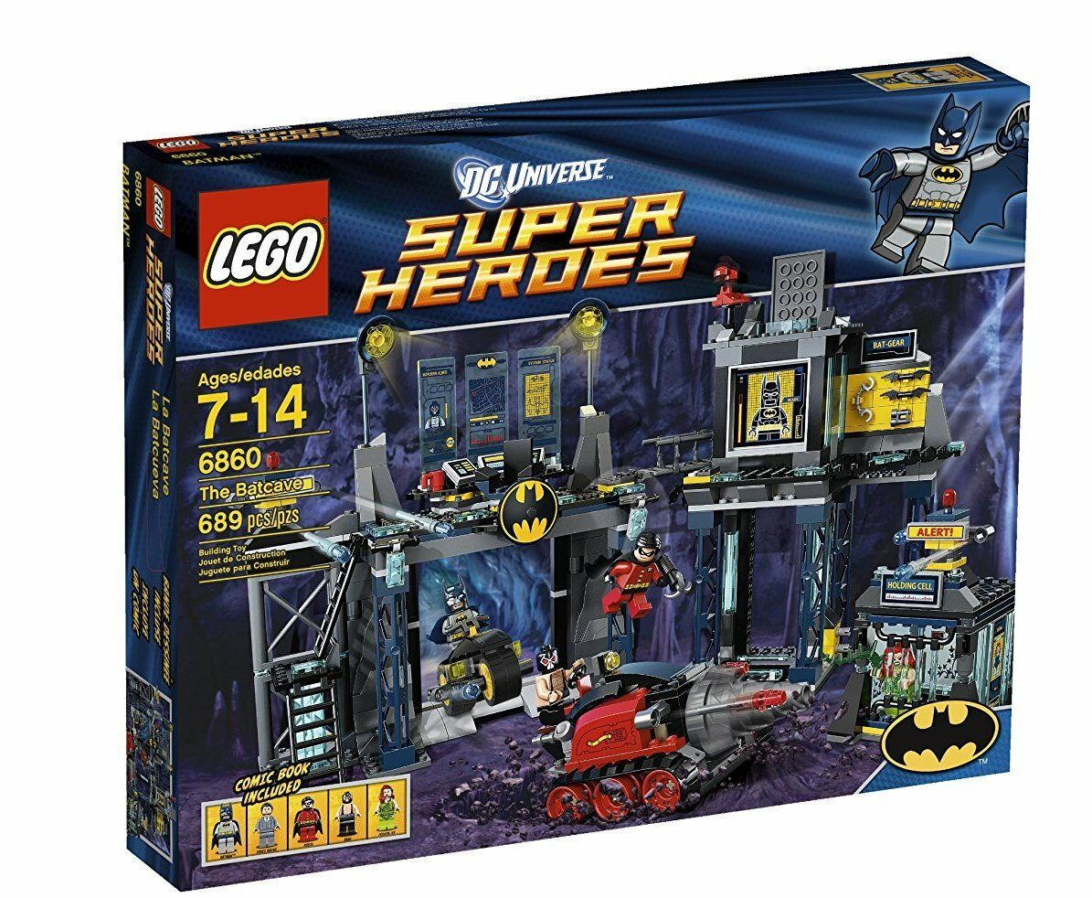 Lego 6860 DC Super Heroes THE BATCAVE Robin Poison Ivy Batman Drill Tank NISB