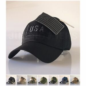 Image is loading USA-American-Flag-Patch-Hat-Military-Tactical-Operator- 9e78acebbe4