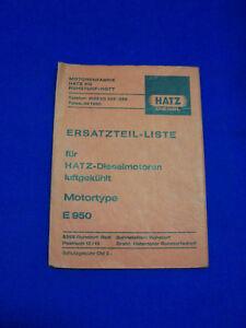 Originale-Lista-Parti-di-Ricambio-Hatz-Diesel-E950-Rarita