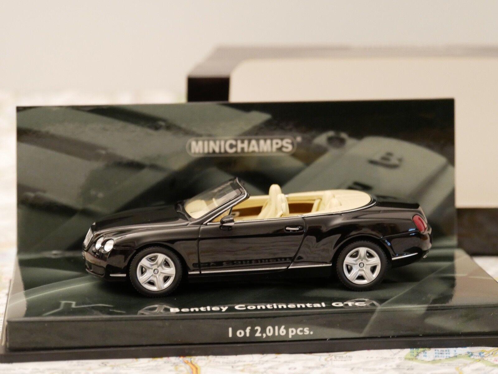 MINICHAMPS BENTLEY CONTINENTAL GTC nero ART.436139030 1 43 NEW DIE-CAST