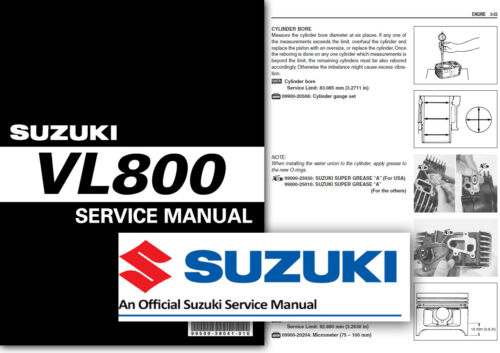 Suzuki VL800 Boulevard C50 Volusia Workshop Service Shop Manual VL 800