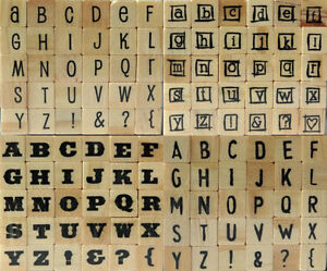 DOVECRAFT-MINI-ALPHABET-RUBBER-STAMPS-30-WOOD-MOUNTED-STAMPS-PER-SET