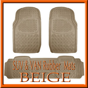 Fits Isuzu Rodeo Heavy Duty Semi Custom Tan Beige Rubber