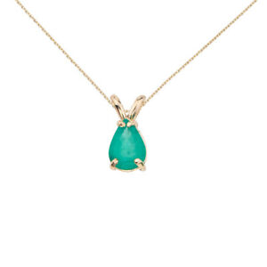 14k-Yellow-Gold-Pear-Shaped-Emerald-Pendant-with-18-034-Chain-and-Gift-Box