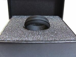 silicone mens wedding ring band black groove sizes 8 14 rubber safety american - Plastic Wedding Rings