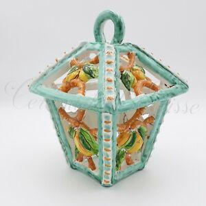 Applique Lanterna Per Esterno Ceramica Di Vietri Traforato ...