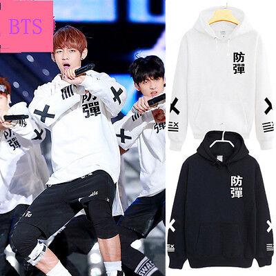 KPOP BTS Cap Hoodie Sweater Bangtan Boys Jung Kook Jin V Fleece Unisex Pullover