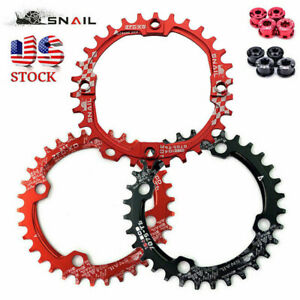 US-STOCK-SNAIL-104BCD-30-42T-MTB-Bike-Chainring-Narrow-Wide-Chain-Ring-Bolts