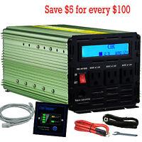 Power Inverter 2000W 4000 Watt 12V dc to 110V 120V ac with LCD Cables Modify