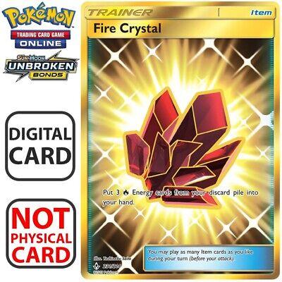4X Fire Crystal 173//214 Unbroken Bonds Pokemon TCG Online Digital Card