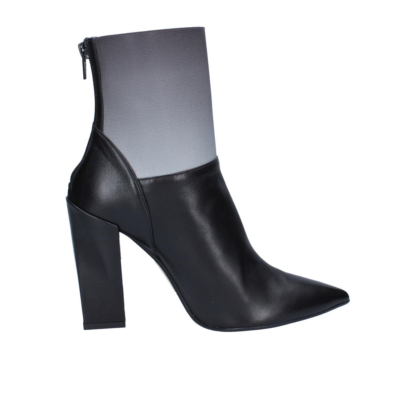 Damen schuhe GIANNI leder MARRA 37,5 EU stiefeletten schwarz grau leder GIANNI BY766-37,5 44fdca