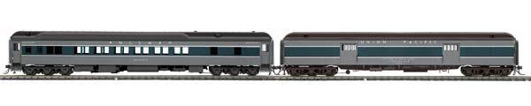 MTH 80-40005, HO 2-Car Heavyweight Borsagage/Sleeper Passenger Set - Union Pacific