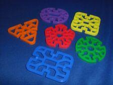 10 Plastic Wacky Wheels Waffle Shapes Bird Toy Parts