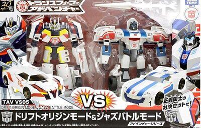 TAKARA TOMY Transformers TAVVS05 drift origin /& Jazz Battle mode New Japan