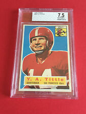 1956 Topps Y.A.Tittle #86 Football Card