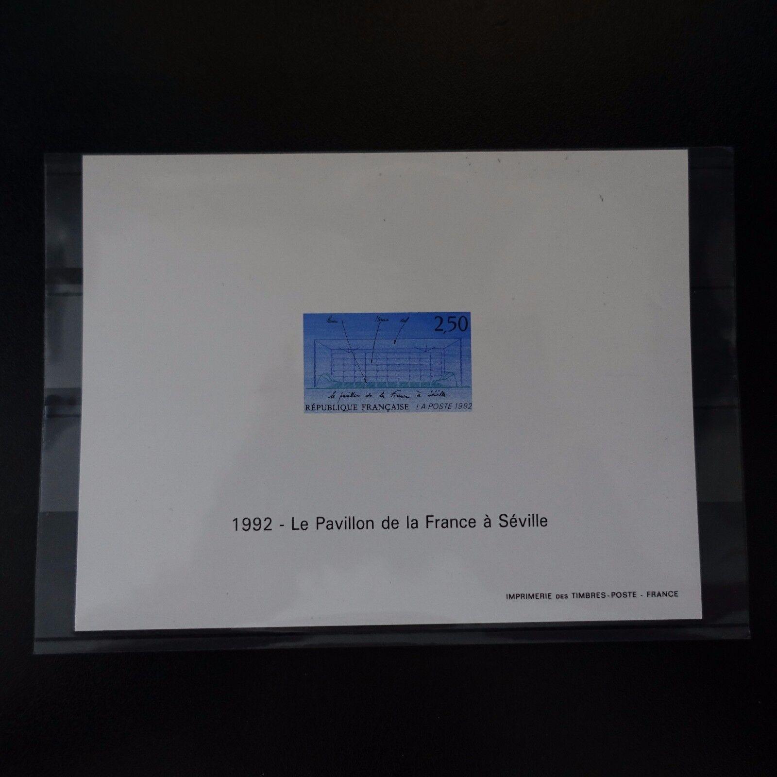 Épreuve Block Gummiert Nr. 2736 Ausstellung Seville 1992 Briefmarke Non Dentelé
