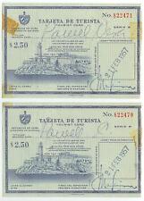 1957 Tarjeta De Turista Tourist Cards