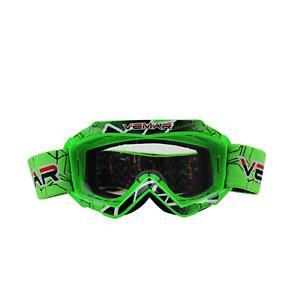 Green motorbike kids goggles anti-fog UV clear MX dirt PIT trail bike PW50 80