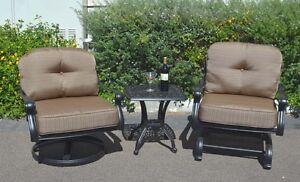 Patio-Furniture-Set-3pc-Elisabeth-Club-Rocker-Spring-Base-Swivel-Chairs-aluminum
