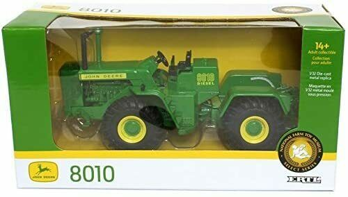 14 NEW John Deere 8010 Tractor LP69413 National Farm Toy Museum Select Series