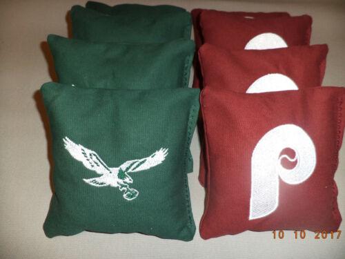 Cornhole Bags Philiadelphia Eagles and Philiadelphia Phillies corn hole bean bag