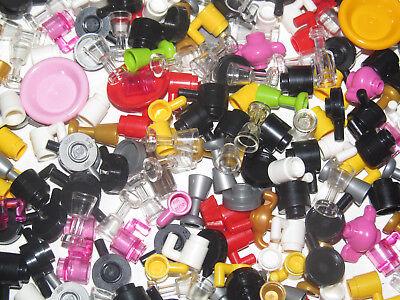 Visière Noir /& Blanc Helmet 30124 NEW Lego ® Accessoire Minifig Lot x2 Casque