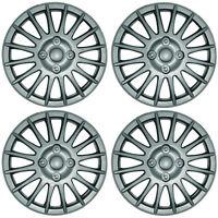 "Lightning 15"" Car Wheel Trims Hub Caps Plastic Covers Silver Universal (4Pcs)"
