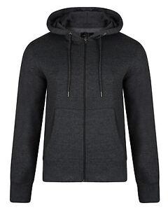 SMITH-amp-JONES-New-Full-Zip-Hooded-Sweatshirt-Fleece-Hoodie-Hoody-Charcoal-Grey