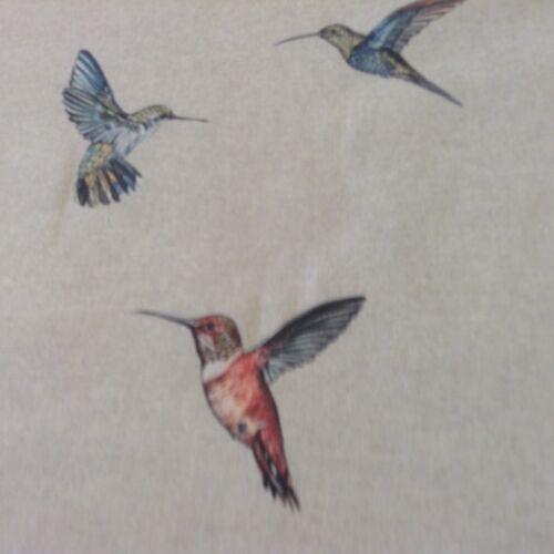 Hummingbirds Linen  Beige  Linen//Cotton Curtain//Craft Fabric