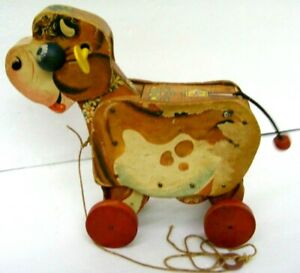 Fisher Price Vintage Molly Moo Cow Pull Preschool Toy