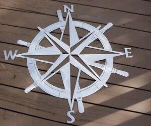 Captains Nautical Compass Rose Wall Art Decor Silver Ebay