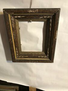 Vintage-Victorian-Eastlake-Shadow-box-Picture-Frame-Fits-6-by-8-Painting