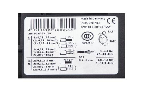 Siemens Sirius 3rt1035-1al20 e5 Schütz