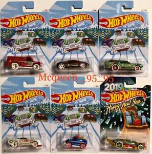 Hot Wheels 2018 Holiday Hot Rods Set 6 Car Happy New Year 2019