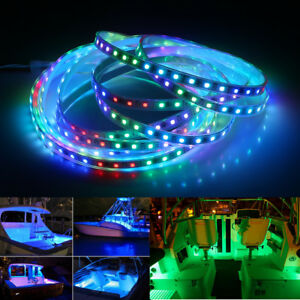 12V Waterproof 5M 5050 Magic RGB 1903 IC LED Strip Light for Boat / Yacht / Car