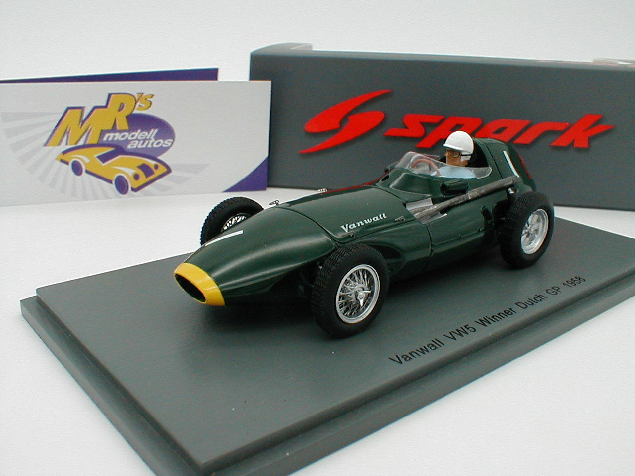 SPARK s4870-VANWALL vw5  nº 1 Winner Pays-Bas GP 1958  Moss  1 43 Neuf  acheter des rabais