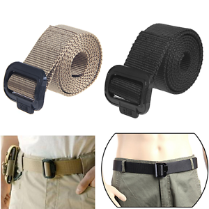 Army Style Nylon Buckle Military Belt Mens Womens Sports Web Canvas ... 4127547bd3
