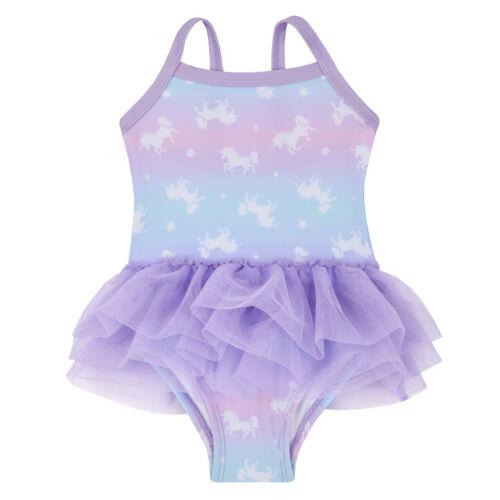 Baby Girls Unicorn Tutu Swimsuit Cute Babies Swimming Costume Toddlers Swimwear