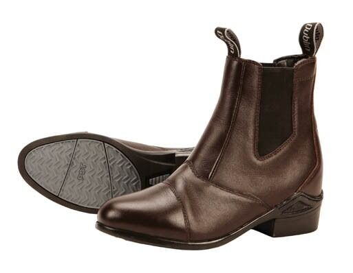Dublin Defy Pull-On Ladies Jodhpur Boots,Size 4 Brown,Full Grain Leather