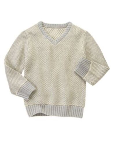 GYMBOREE SWEATER WEATHER GRAY TWO-TONE PULLOVER SWEATER 4 5 6 7 8 NWT