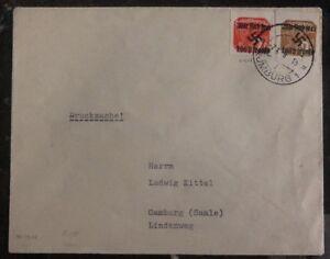 1938 Rumburg Czechoslovakia Germany Cover Provisional Cancel Camburg Sudetenland